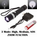 Фенер H-818C Multifunction Swat Flashlight CREE Q5 LED, регулира