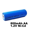 Батерия 800mAh AA 1.2V Ni-Cd за соларни лампи, телефони, детски