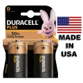DURACELL PLUS Алкална батерия LR20, D, MN1300 1.5V + UP TO 50% M