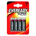 Eveready Super Heavy Duty Усилена карбон цинкова батерии AA, R6