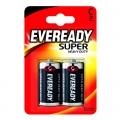 Eveready Super Heavy Duty Усилена карбон цинкова батерии R14, C