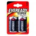 Eveready Super Heavy Duty Усилена карбон цинкова батерии R20, D