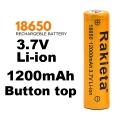 RAKIETA 18650 1200 mAh 3.7V Li-Ion Литиево йонна акумулаторна ба