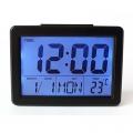 LCD часовник с гласов контрол, термометър, будилник 2619