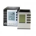 Настолен часовник с календар, термометър, аларма 3608