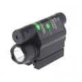 Зелен лазерен прицел 5mW 532nm с фенер Cree XP-E R5 200 Lumens