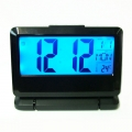 Електронен настолен часовник с термометър за стая, календар и бу