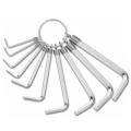 Комплект ключове шестограми 10 броя размери от 1.5-8мм
