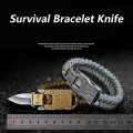 Гривна с нож за защита или оцеляван гривна за оцеляване паракорд